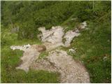 Tinčkova koča - Srednji vrh (nad Završnico)
