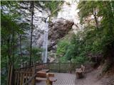 Waterfall Podkanjski slap / Wildensteiner Wasserfall
