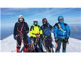 Mont Blanc / Monte BiancoIn na vrhu ... zdaj pa hitro dol kr je mrzlo za umrijet ....