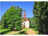 Pridemo do cerkvice sv Ignacija 890 m.