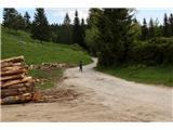 Parkirišče Uskovnica - planina_zajamniki