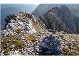 greben Srebrnjaka se nadaljuje še proti zahodu...
