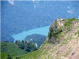 pogled proti jezeru Sauris