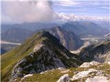 greben Cime di Cervade, desno spodaj dolina Lavaruzze