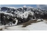Snežne razmere v gorah 13.4.2017Slika spletne kamere na Voglu. Vir: http://www.bohinj.si
