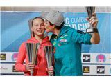 Janja in Domen v Kranju na vrhu...Janja in Domen na vrhu svetovnega pokala 2016 (foto Stanko Gruden).