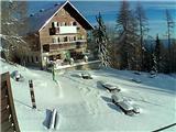 Snežne razmere 12.11.2016Slika spletne kamere pri Domu na Peci. Vir: http://www.pdmezica.si/spletna_kamera_peca.htm