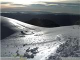 Snežne razmere 9.12.2016Slika spletne kamere na Kredarici. Vir: ARSO