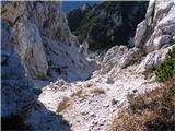 Creta di Rio Secco (2203)na vrhu zagruščene grape