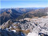 Creta di Rio Secco (2203)po zahodnem grebenu navzdol
