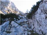 Creta di Rio Secco (2203)tukaj sem našel nerušnat prehod