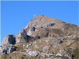 Creta di Timau in Cima AvostanisLuna je zahajala, sonce pa je bilo že nekja časa v polni svetlobi