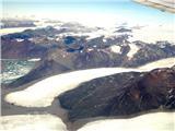 Treking na Grenlandijipogled iz letala