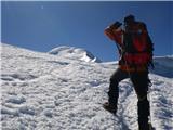 Mont Blanc / Monte BiancoPrvič se prikaže MB...