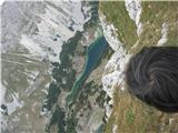 Pogled na Škrčko jezero iz vrha
