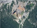 Z vrha Planjave se lepo vidi slap Rinka