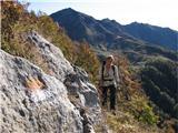 Creta di Timau in Cima Avostanisobledele markacije na stari mulatieri naju vodijo v sončna južna pobočja