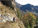 Creta di Timau in Cima Avostanisplanina je že daleč zadaj