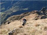 Creta di Timau in Cima Avostanispo travah na vrh