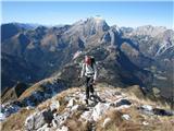 Creta di Timau in Cima Avostanisše nekaj korakov pa sva na vrhu