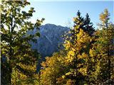 barve jeseni in sneg na gorah