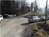 Parkirišče v bližini Slavkovega doma.