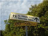 Osorščica - Sv. Nikolaj in Televrinazačetek poti na Sv. Nikola
